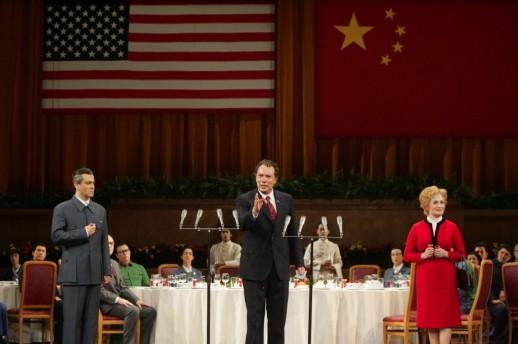 "scene from Adams's ""Nixon in China."" English National Opera production photo: Alastair Muir"