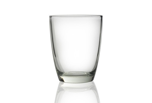 The beautiful glass is empty