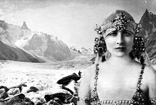 Miss Mary Garden climbs Mont Blanc